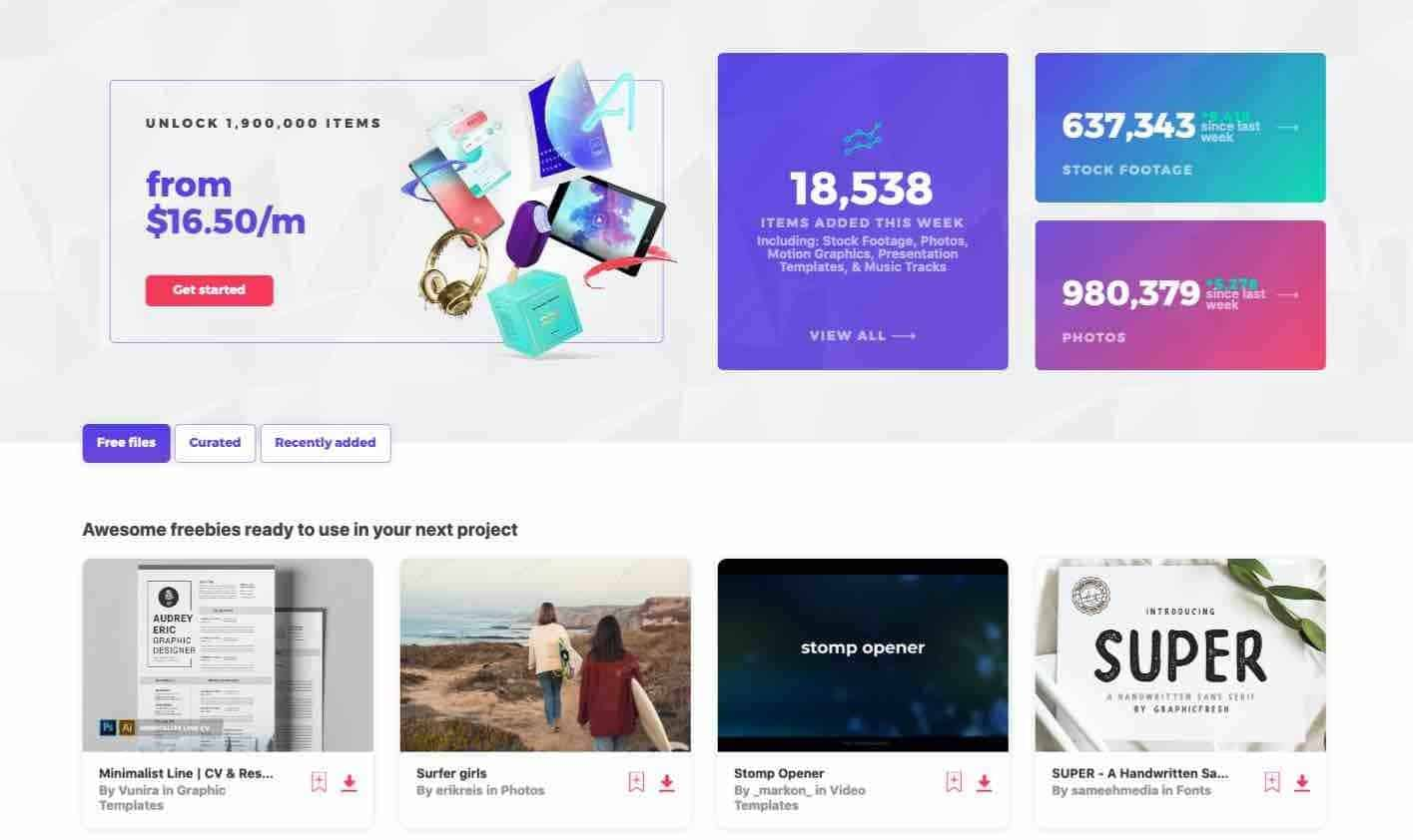 Envato-Elements-瀏覽頁面