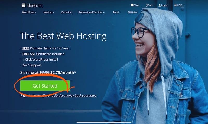 開始用Bluehost建立部落格