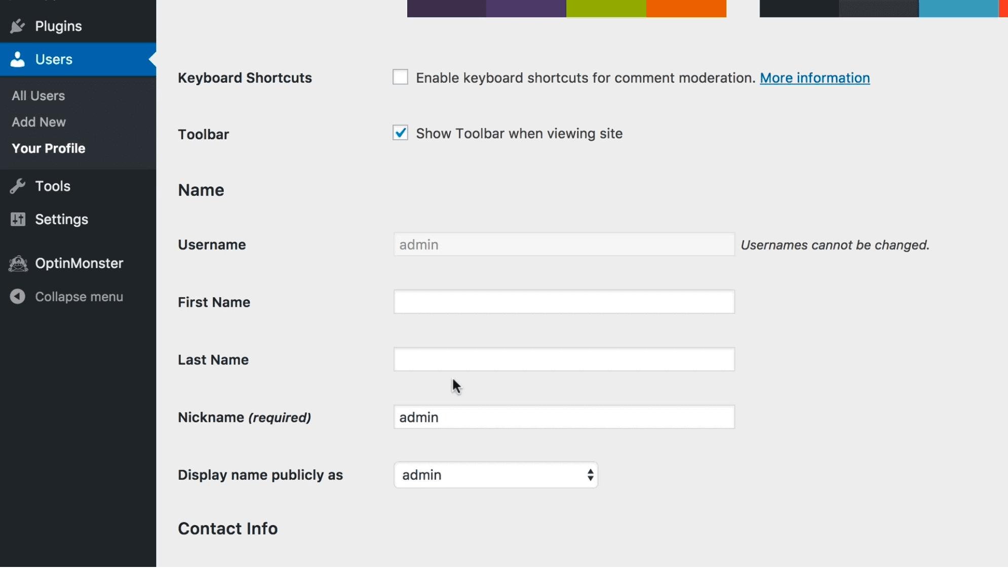 建立wordpress帳號