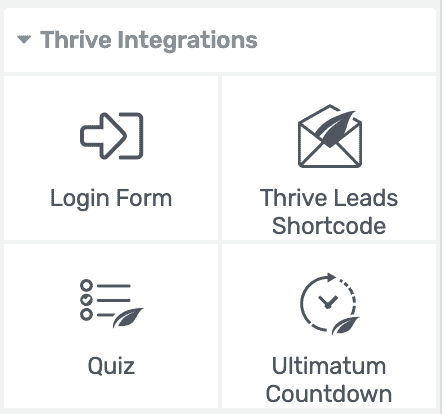 thrive-architect-整合工具