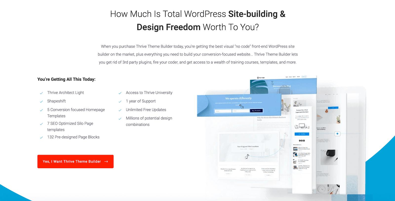 好用的付費佈景主題-Thrive theme builder