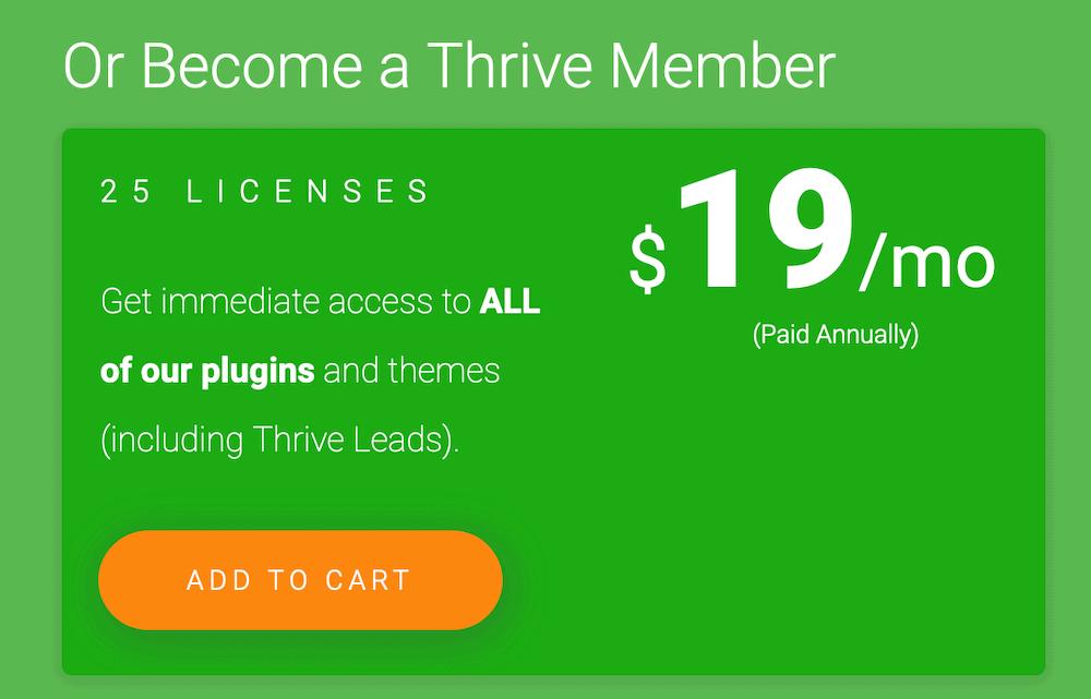 Thrive Themes 費用