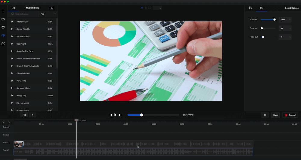剪接軟體-create-vidello 操作介面