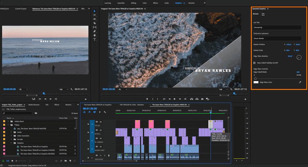 剪輯軟體Premiere Pro -interface