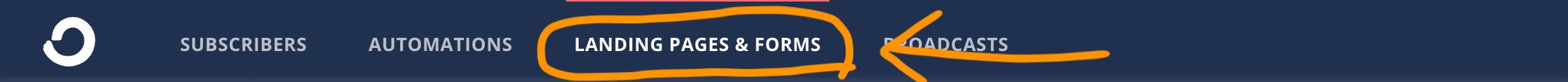 ConvertKit 點擊 Landing Page & Forms