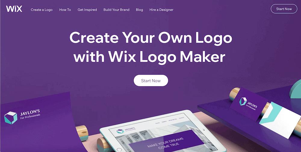 Logo製作工具-wix