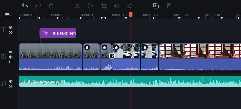 Movavi video editor 時間軸