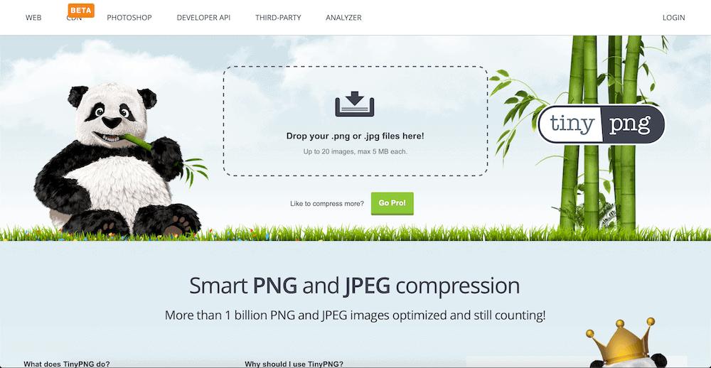 縮小檔案網站TinyPNG