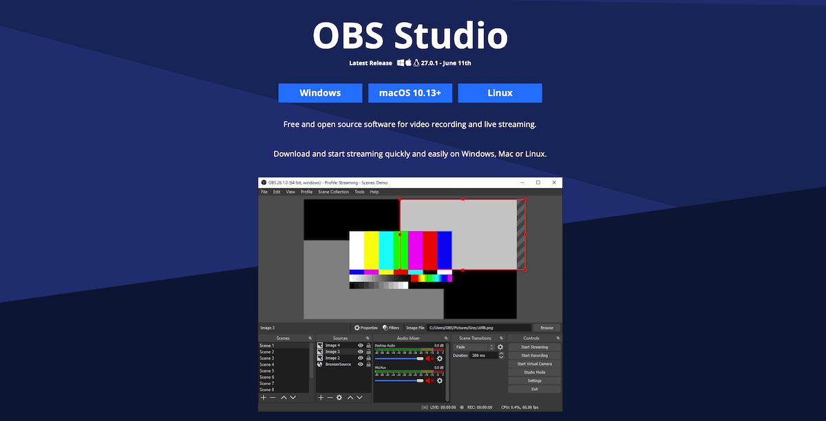 螢幕錄影軟體 OBS