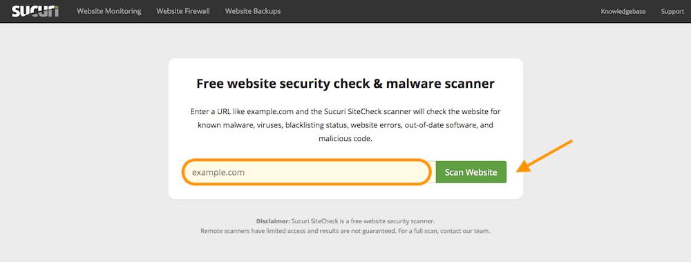Sucuri 免費網站安全檢測